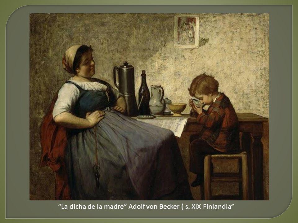 La dicha de la madre Adolf von Becker ( s. XIX Finlandia