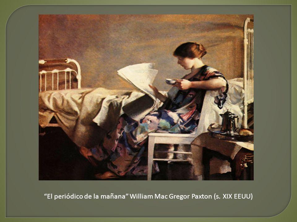 El periódico de la mañana William Mac Gregor Paxton (s. XIX EEUU)