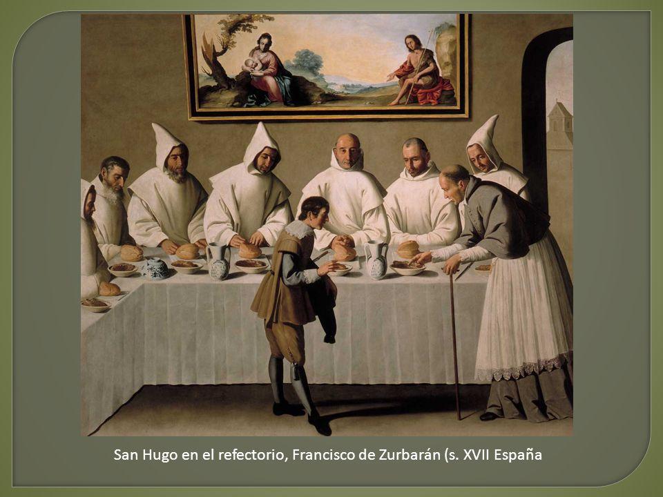 San Hugo en el refectorio, Francisco de Zurbarán (s. XVII España