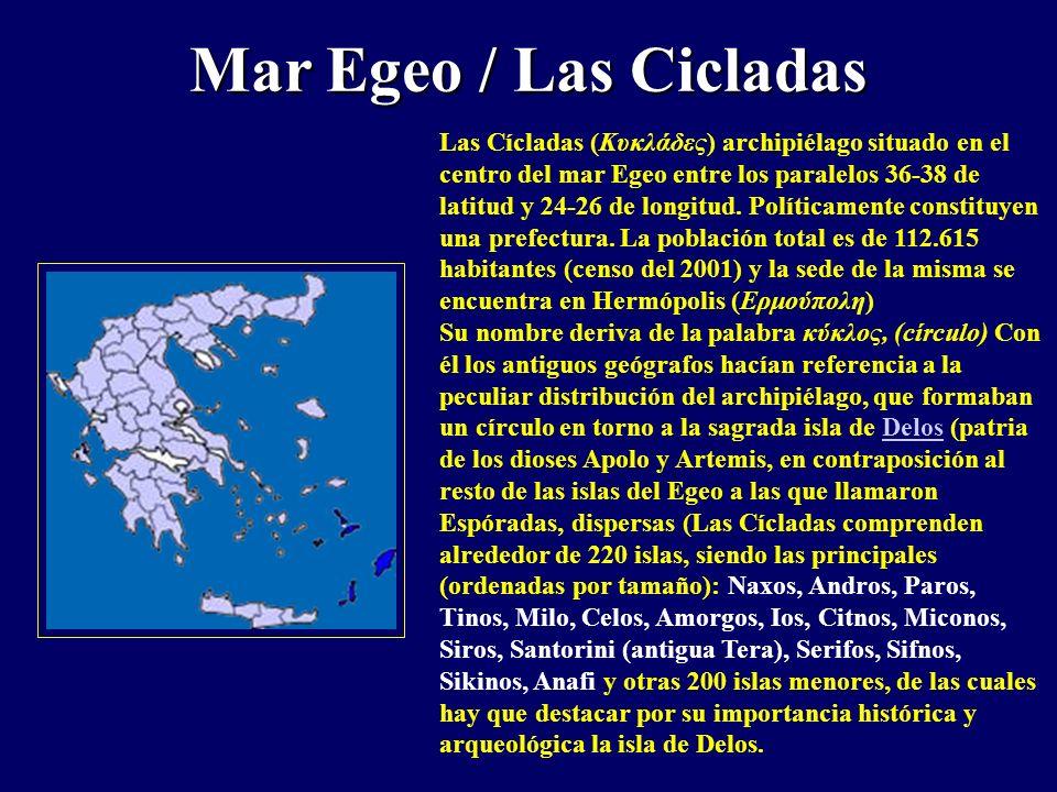 Mar Egeo / Las Cicladas