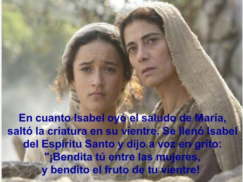 En cuanto Isabel oyó el saludo de María,