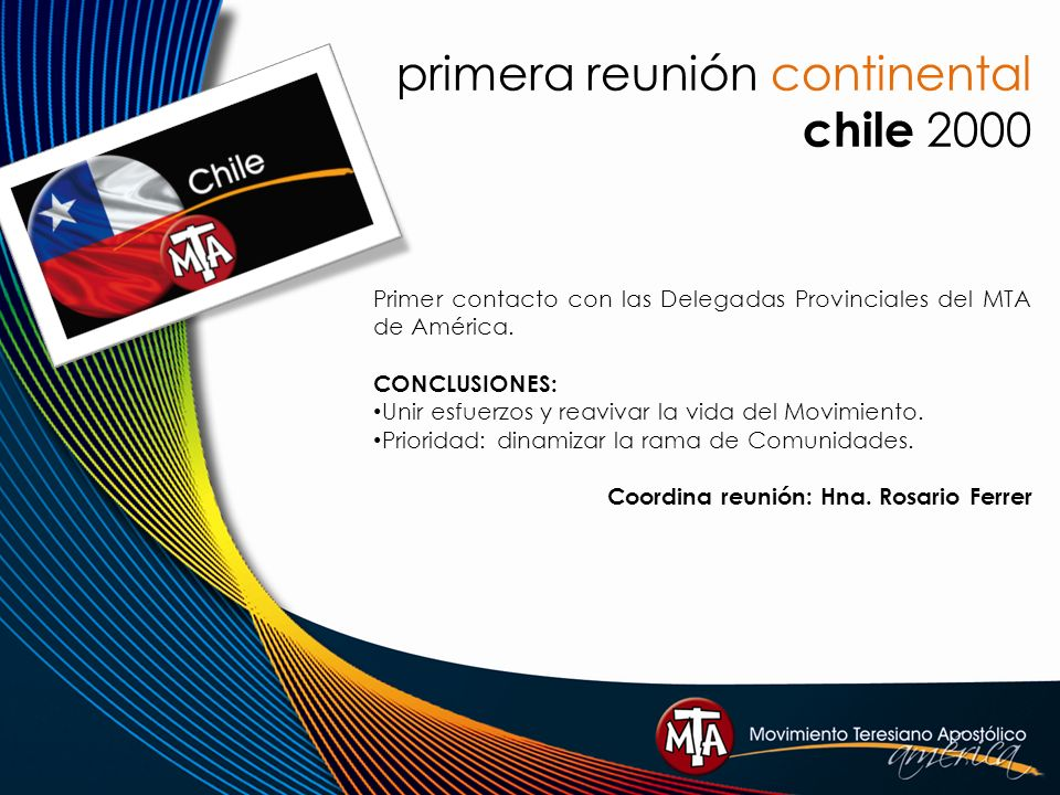 primera reunión continental chile 2000