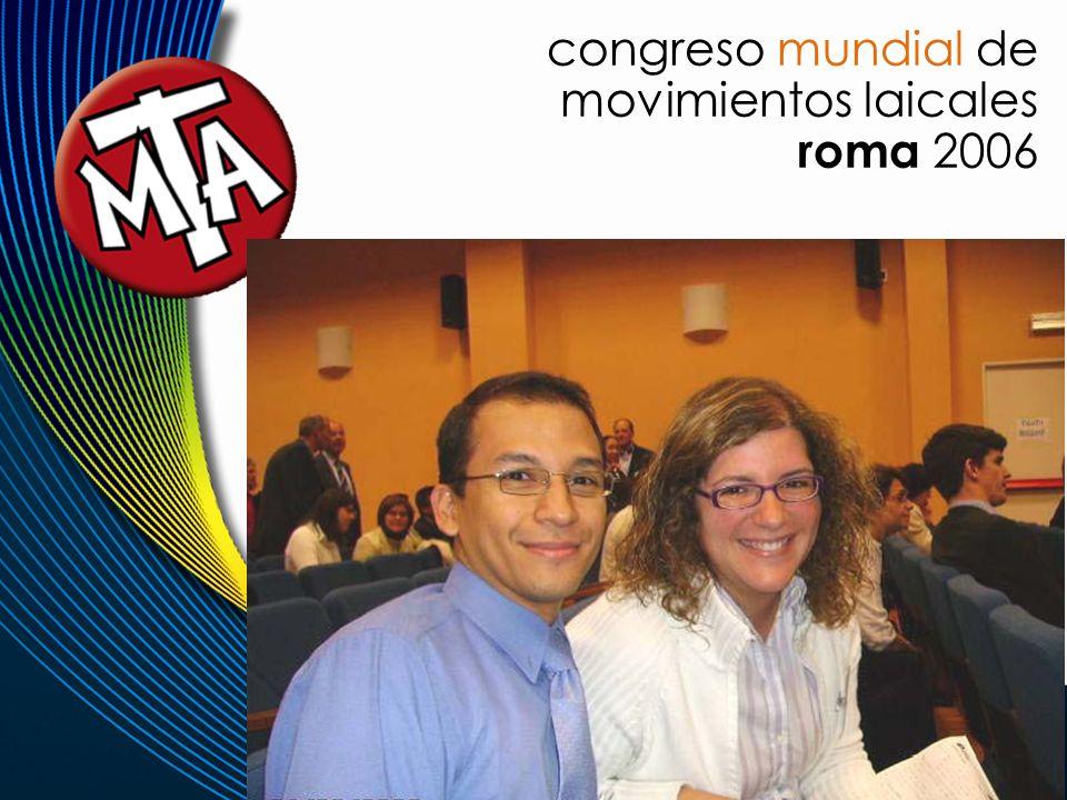 congreso mundial de movimientos laicales roma 2006