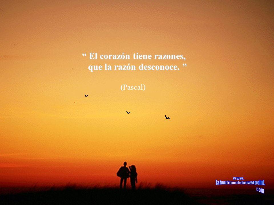 El corazón tiene razones, que la razón desconoce.
