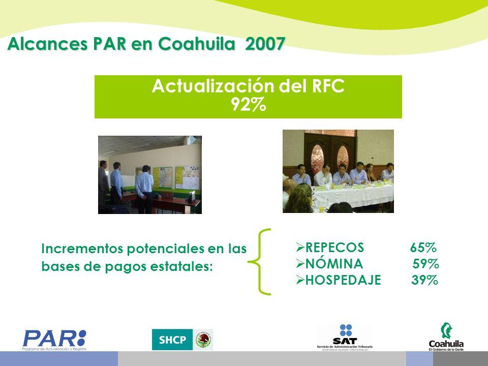 Actualización del RFC 92% Alcances PAR en Coahuila 2007