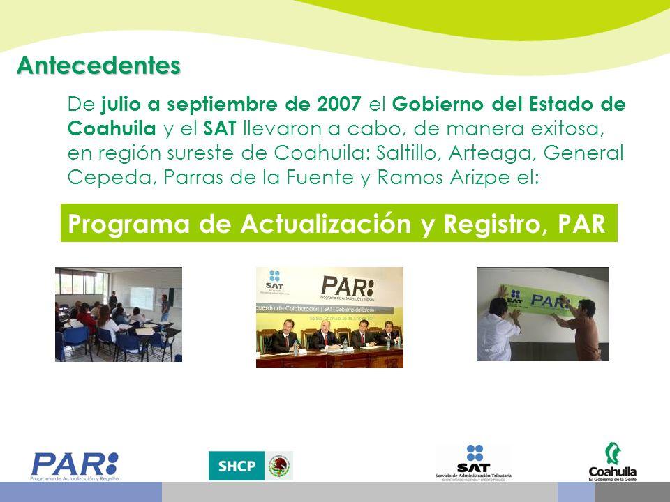 Programa de Actualización y Registro, PAR