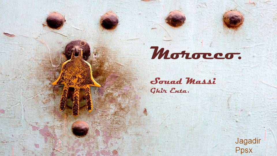 Morocco. Souad Massi Ghir Enta. Jagadir Ppsx