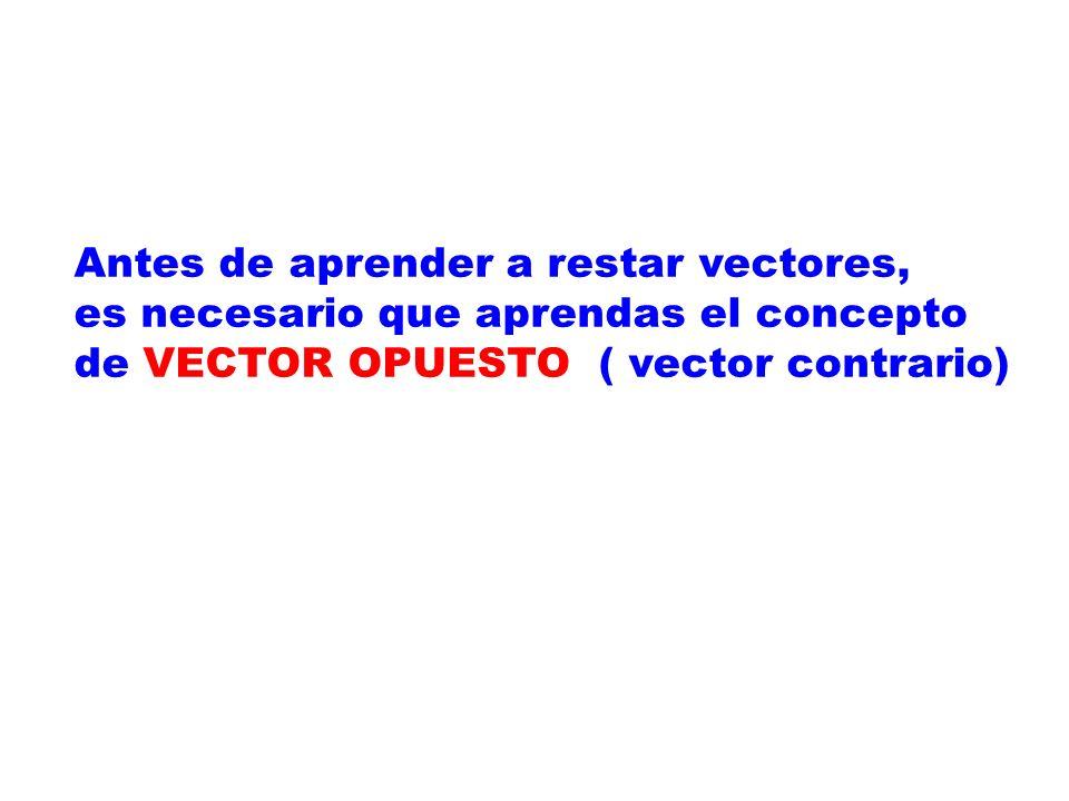 Antes de aprender a restar vectores,