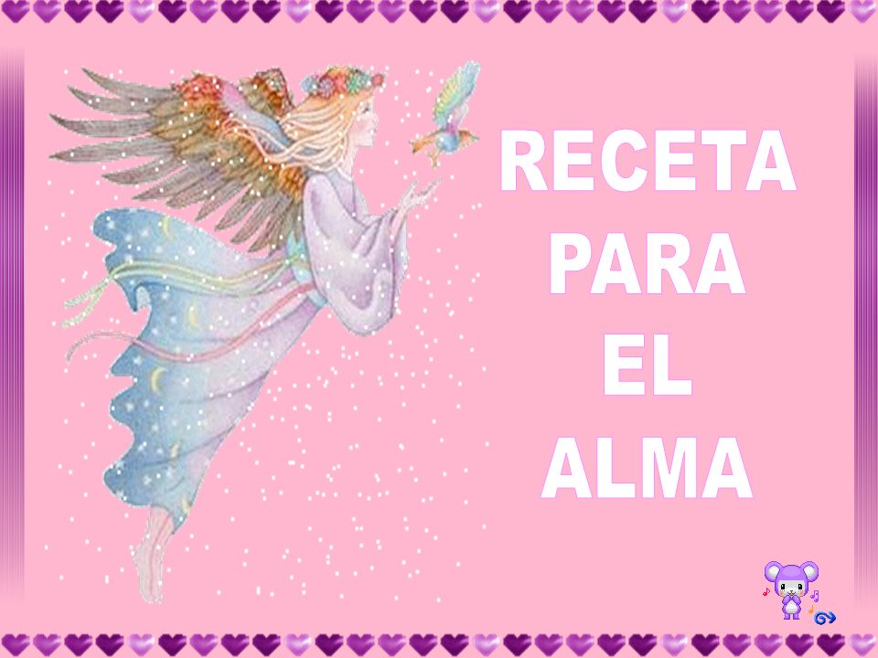 RECETA PARA EL ALMA