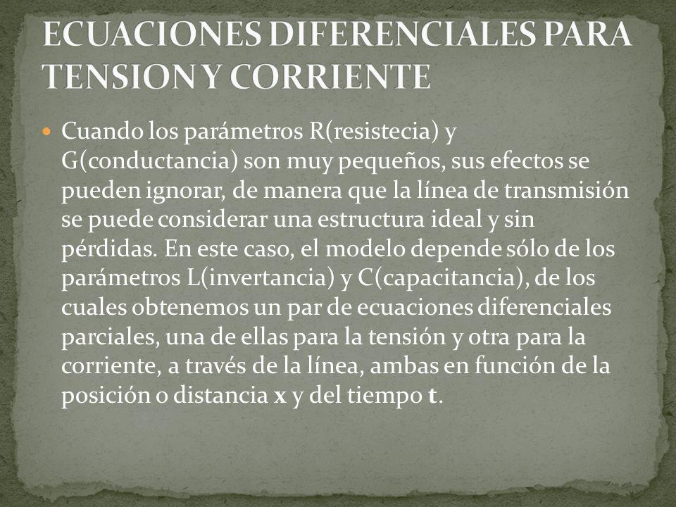 ECUACIONES DIFERENCIALES PARA TENSION Y CORRIENTE
