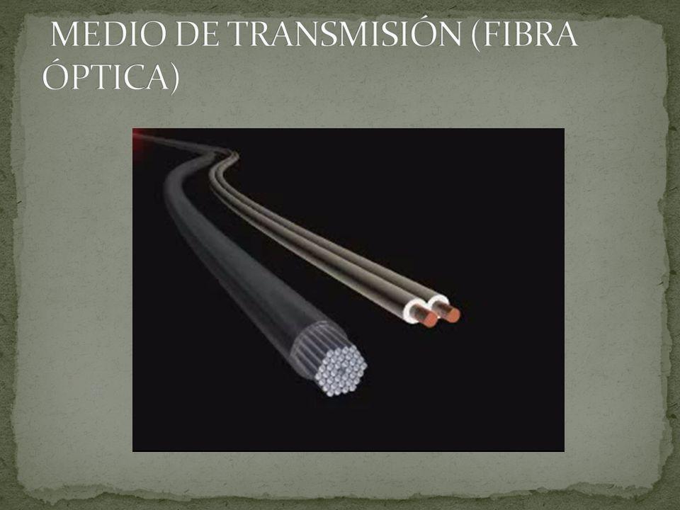 MEDIO DE TRANSMISIÓN (FIBRA ÓPTICA)