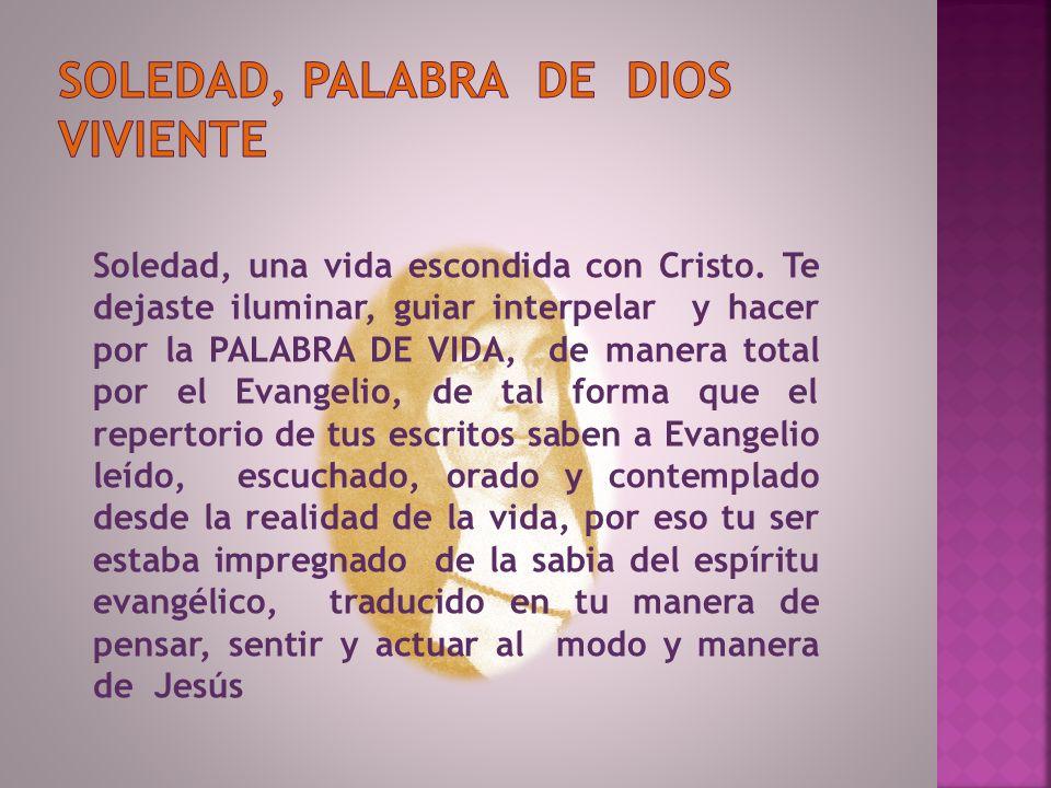 Soledad, palabra de dios viviente