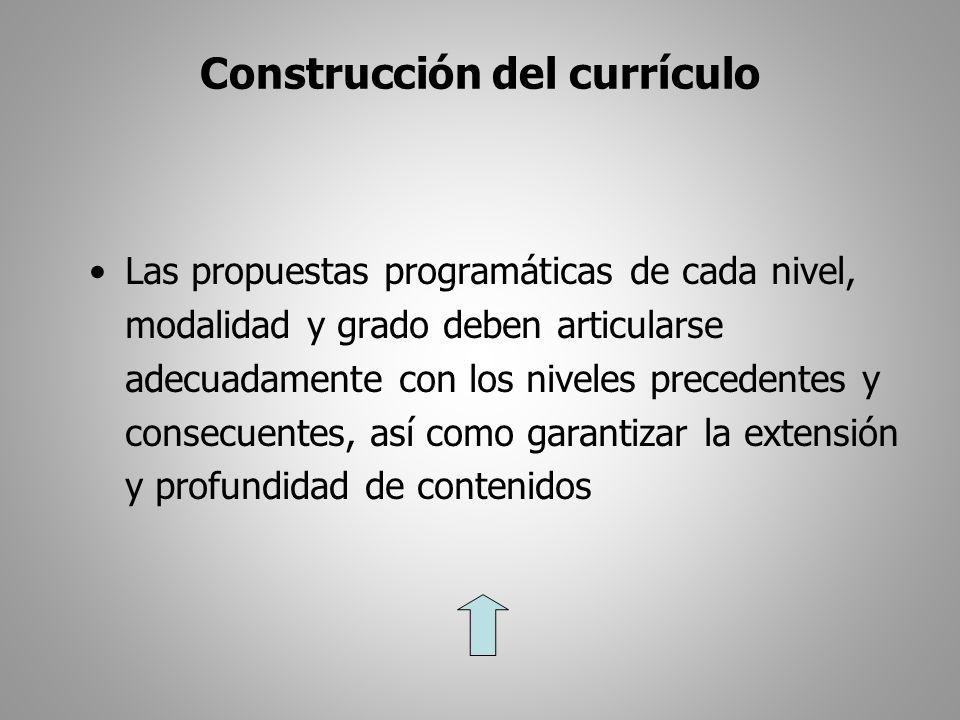 Construcción del currículo