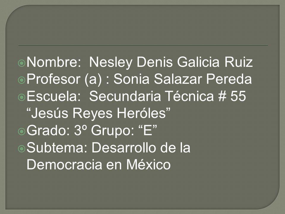 Nombre: Nesley Denis Galicia Ruiz