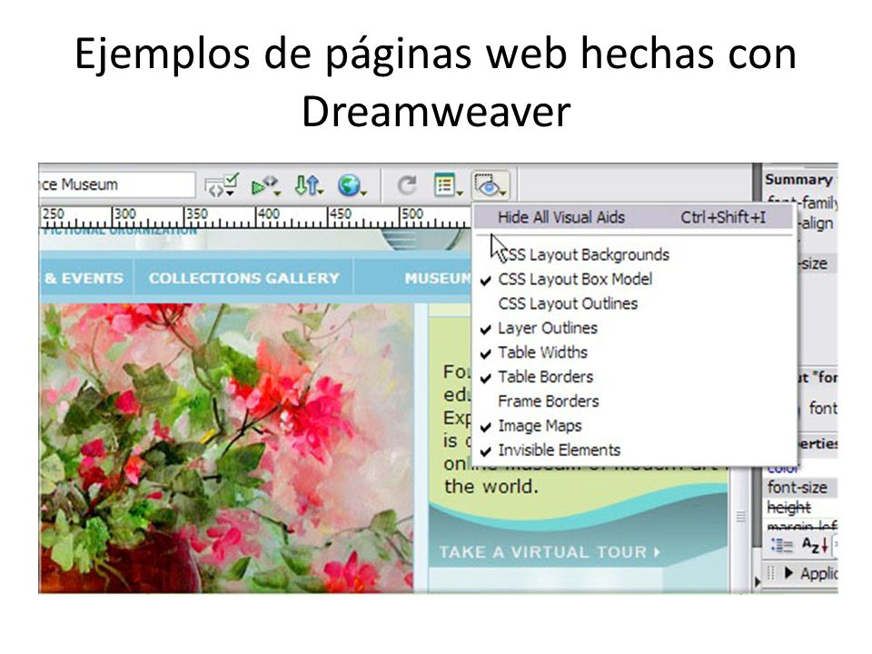 Ejemplos de páginas web hechas con Dreamweaver