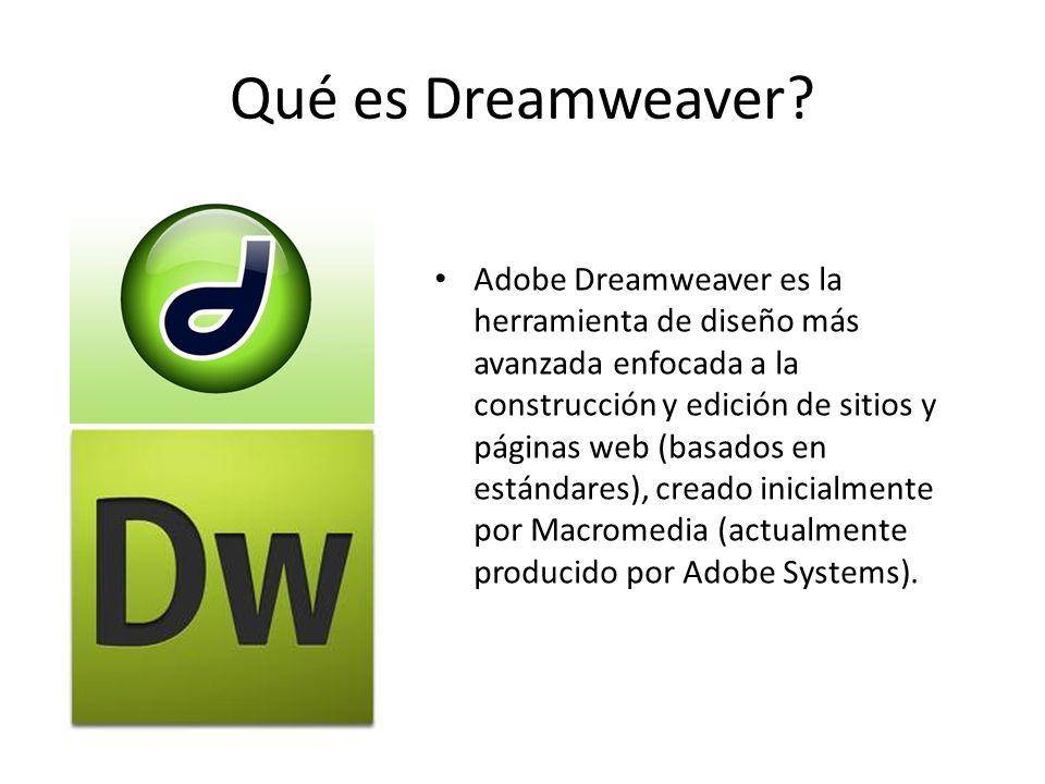 Qué es Dreamweaver