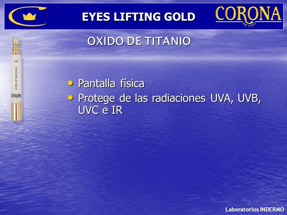 Protege de las radiaciones UVA, UVB, UVC e IR