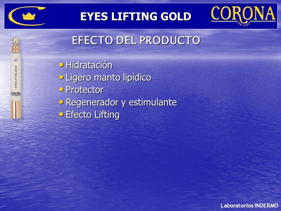 EYES LIFTING GOLD EFECTO DEL PRODUCTO Hidratación