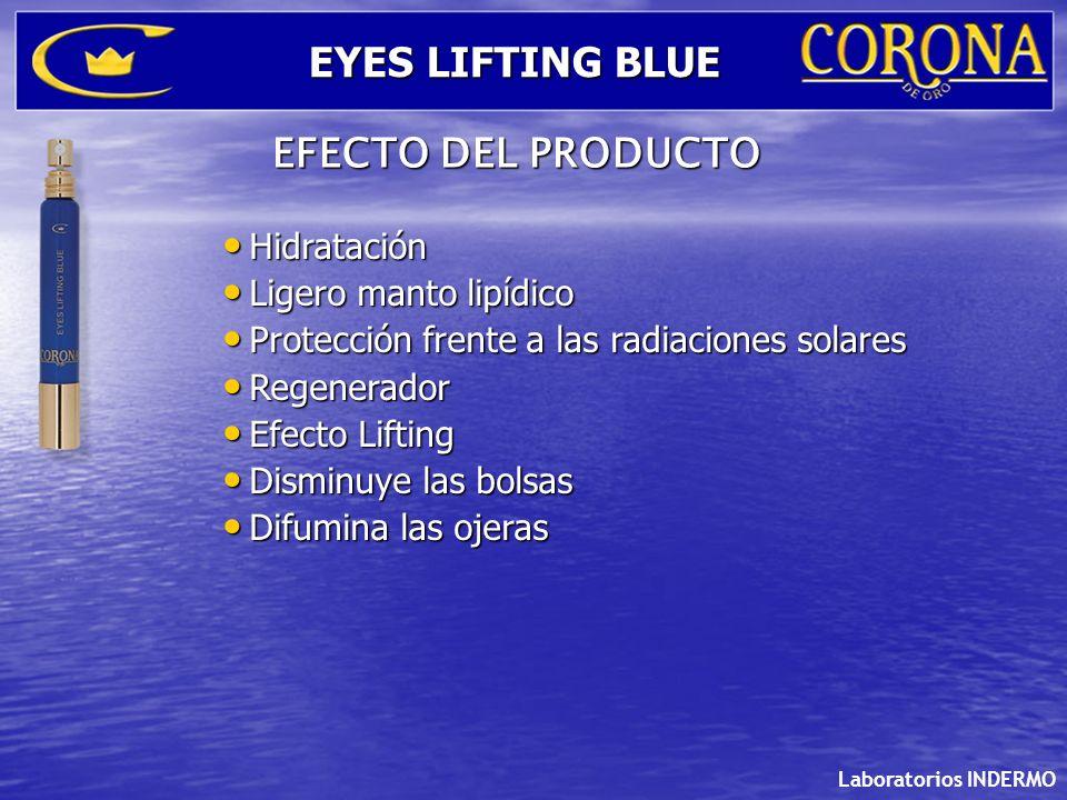 EYES LIFTING BLUE EFECTO DEL PRODUCTO Hidratación