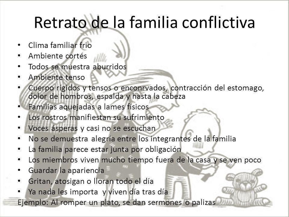 Retrato de la familia conflictiva