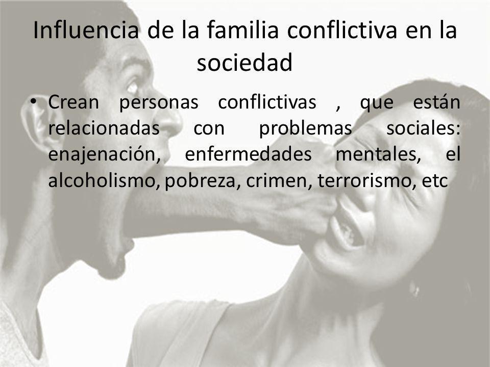 Influencia de la familia conflictiva en la sociedad