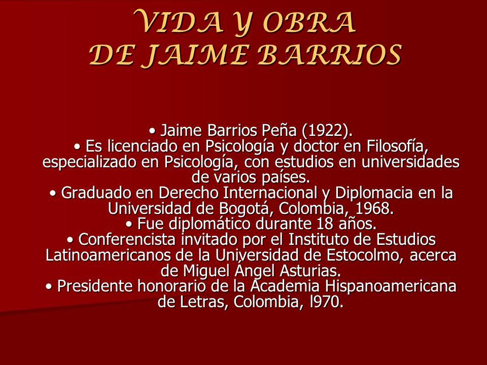 VIDA Y OBRA DE JAIME BARRIOS