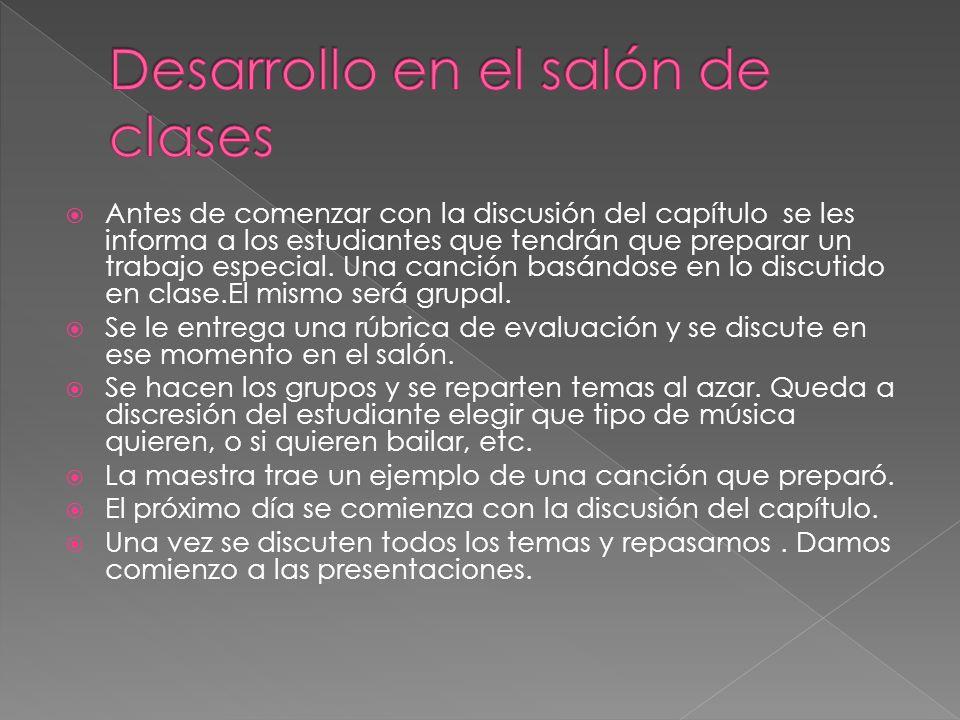 Desarrollo en el salón de clases