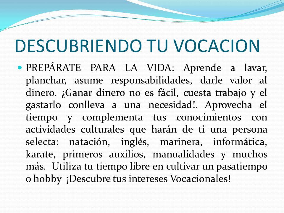 DESCUBRIENDO TU VOCACION