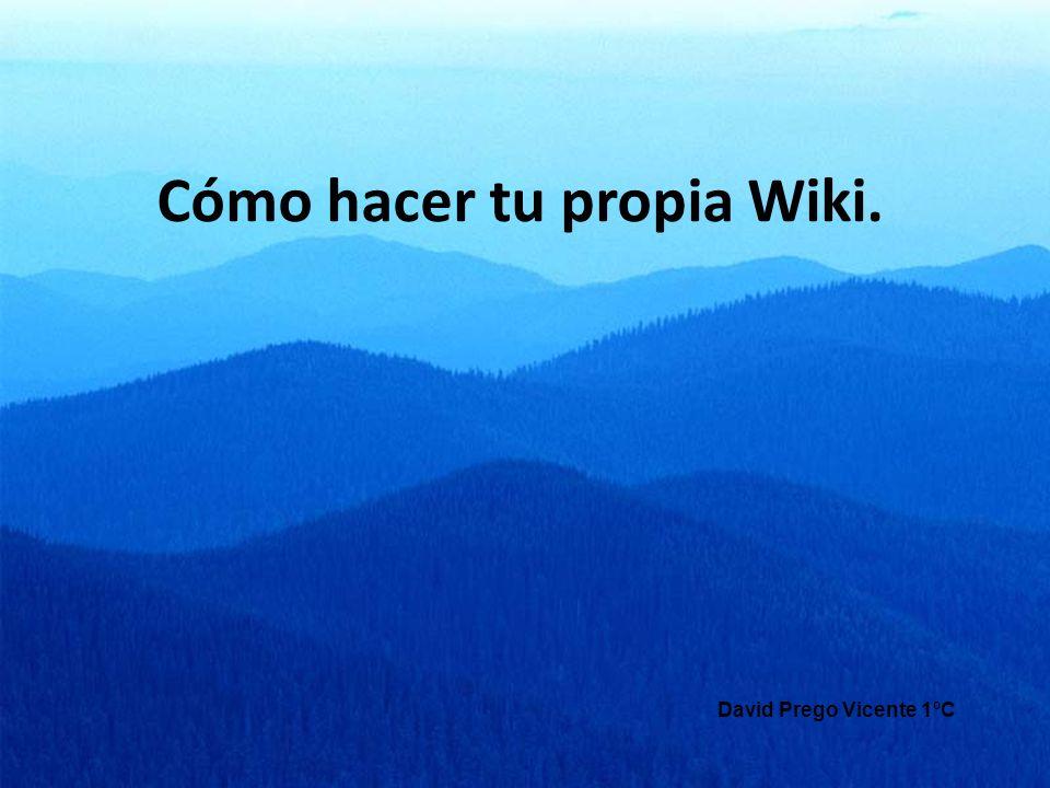 Cómo hacer tu propia Wiki.