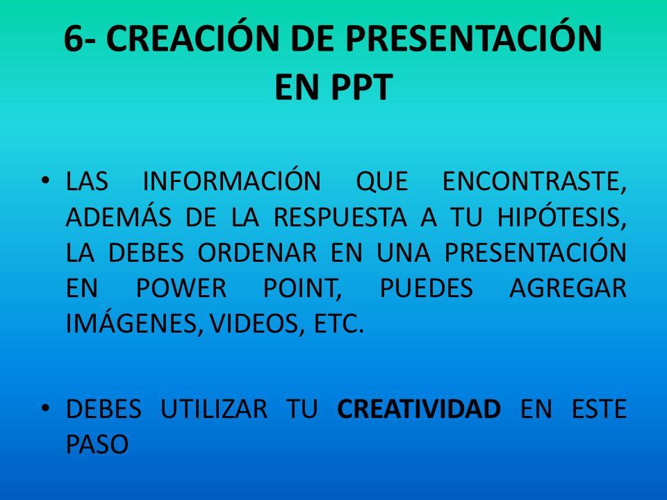 6- CREACIÓN DE PRESENTACIÓN EN PPT