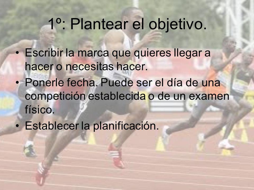 1º: Plantear el objetivo.