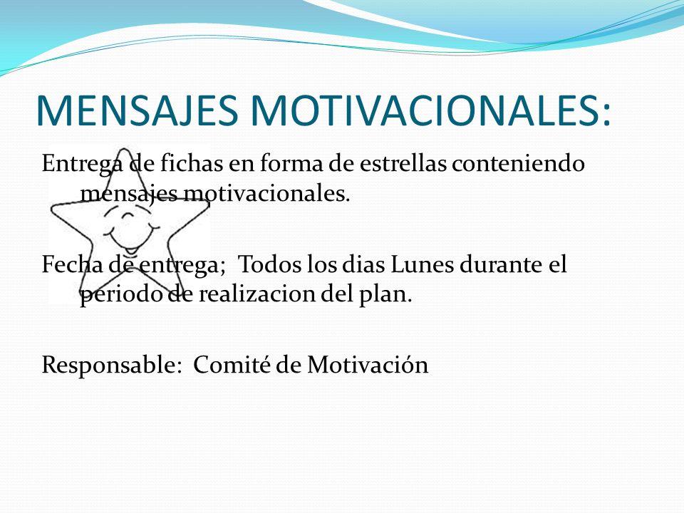 MENSAJES MOTIVACIONALES: