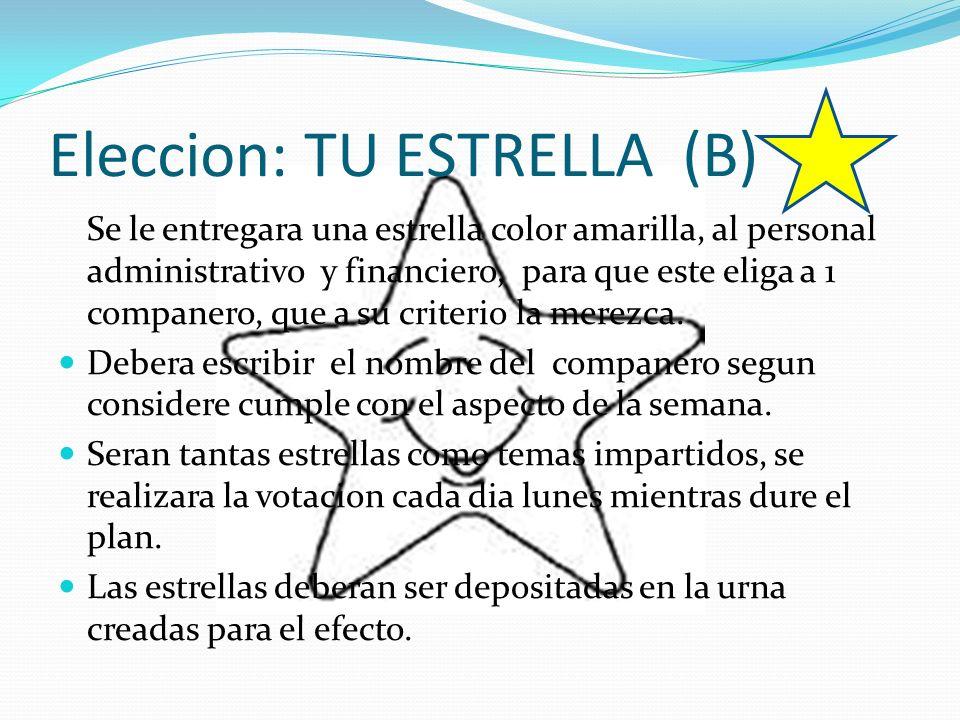 Eleccion: TU ESTRELLA (B)