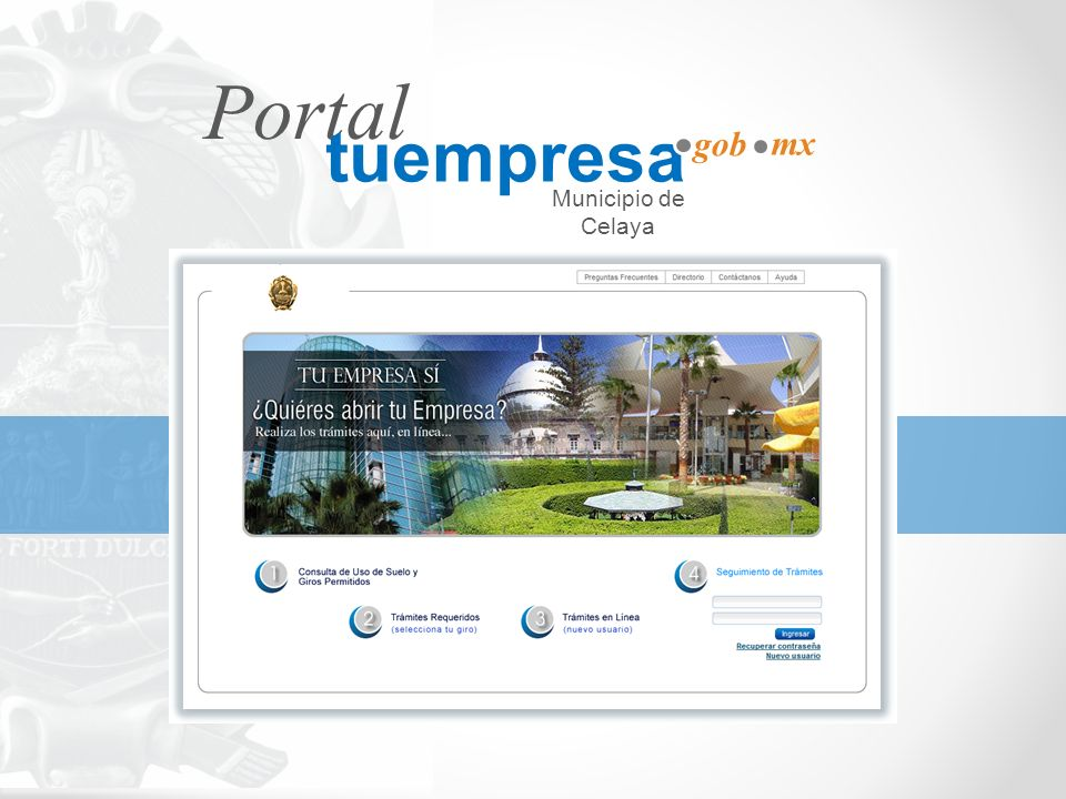 Portal tuempresa gob mx Municipio de Celaya