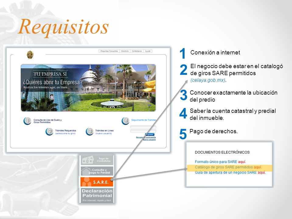 Requisitos 1 2 3 4 5 Conexión a internet