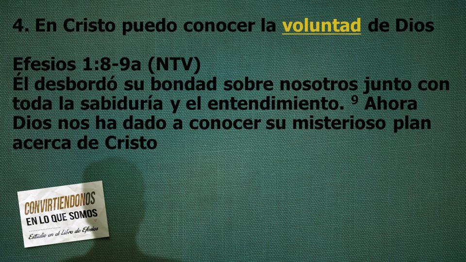 4. En Cristo puedo conocer la voluntad de Dios