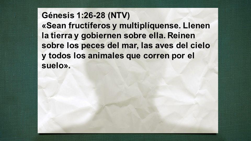 Génesis 1:26-28 (NTV) «Sean fructíferos y multiplíquense
