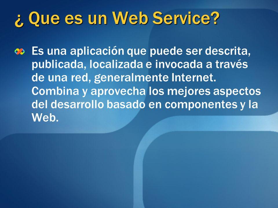 ¿ Que es un Web Service