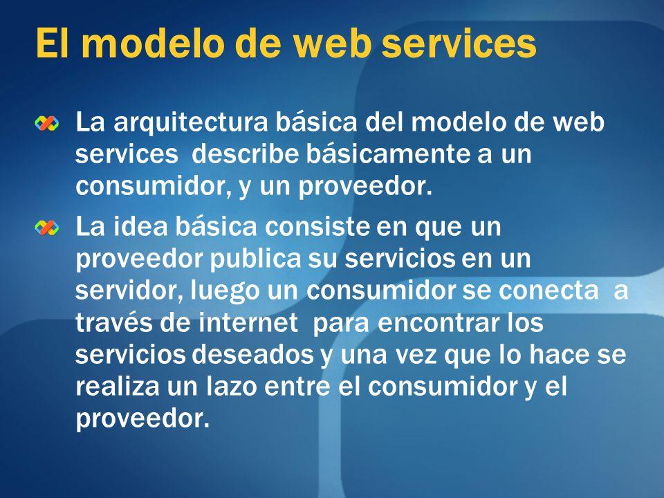 El modelo de web services