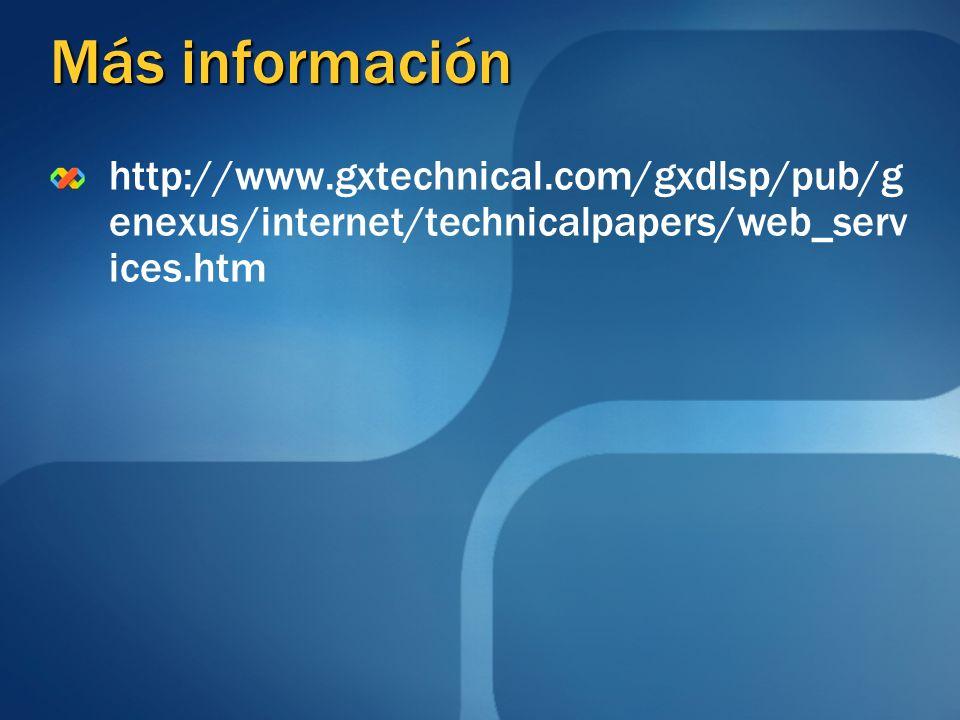 Más información http://www.gxtechnical.com/gxdlsp/pub/genexus/internet/technicalpapers/web_services.htm.
