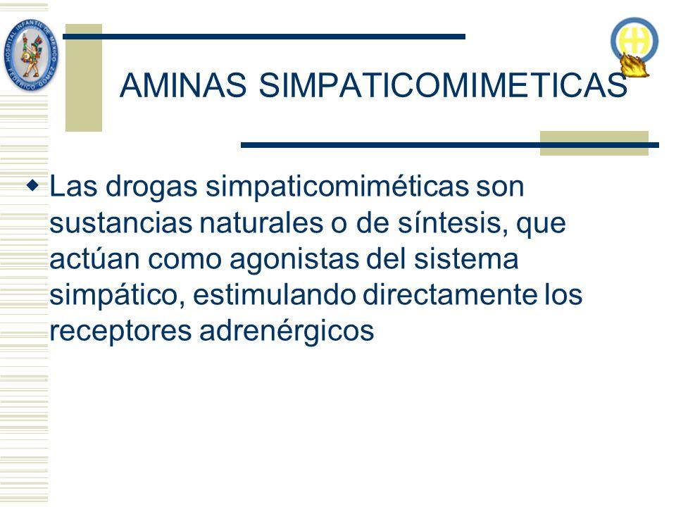 AMINAS SIMPATICOMIMETICAS
