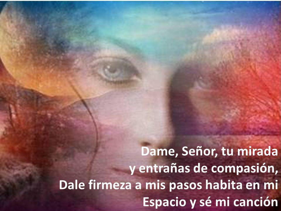 Dame, Señor, tu mirada y entrañas de compasión, Dale firmeza a mis pasos habita en mi.