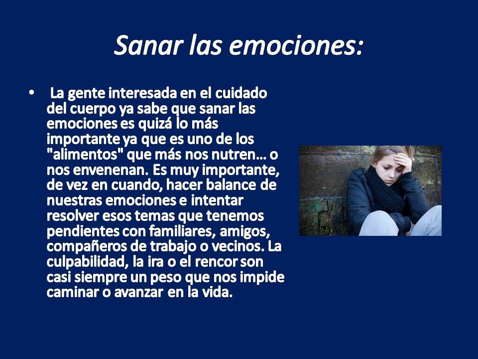 Sanar las emociones: