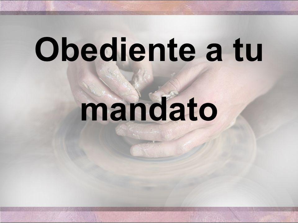 Obediente a tu mandato