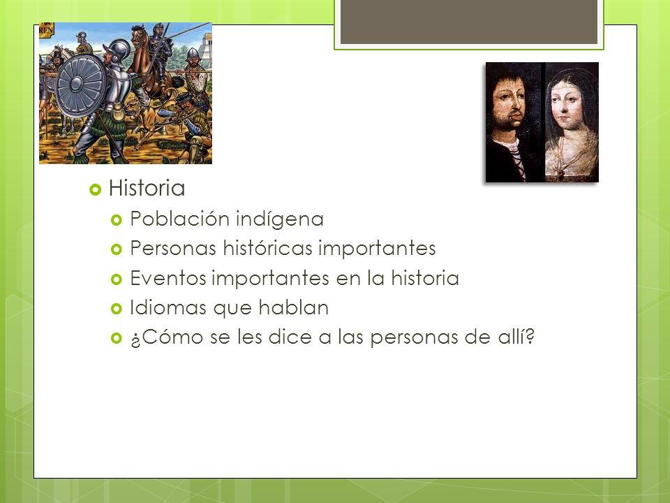 Historia Población indígena Personas históricas importantes