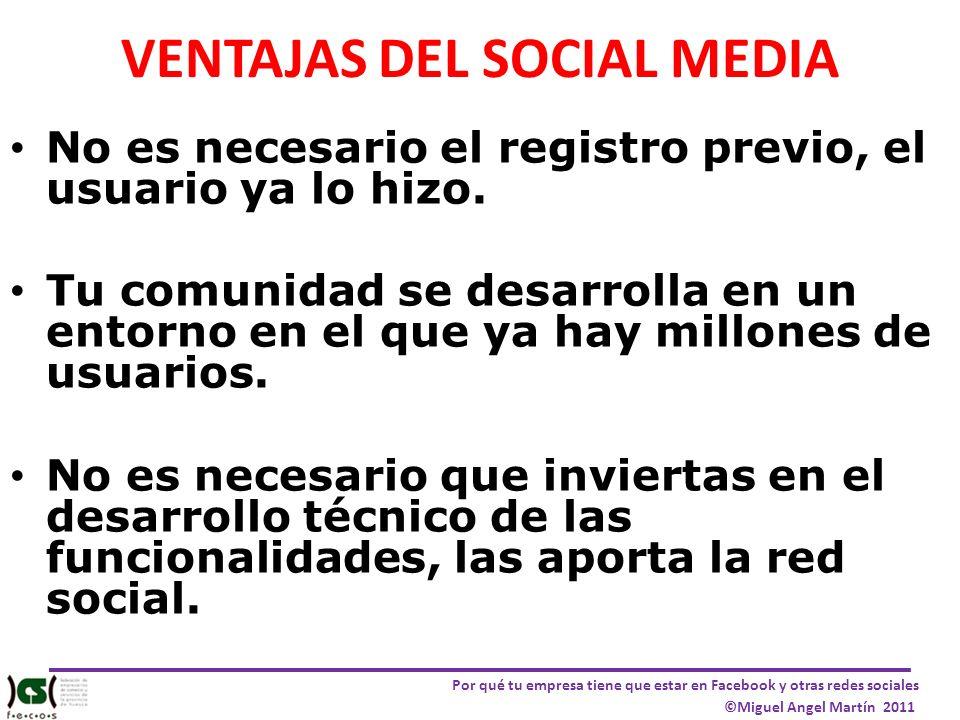 VENTAJAS DEL SOCIAL MEDIA