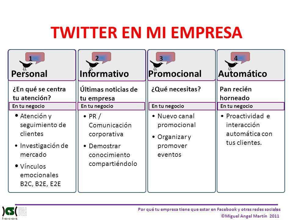 TWITTER EN MI EMPRESA Personal Informativo Promocional Automático 1