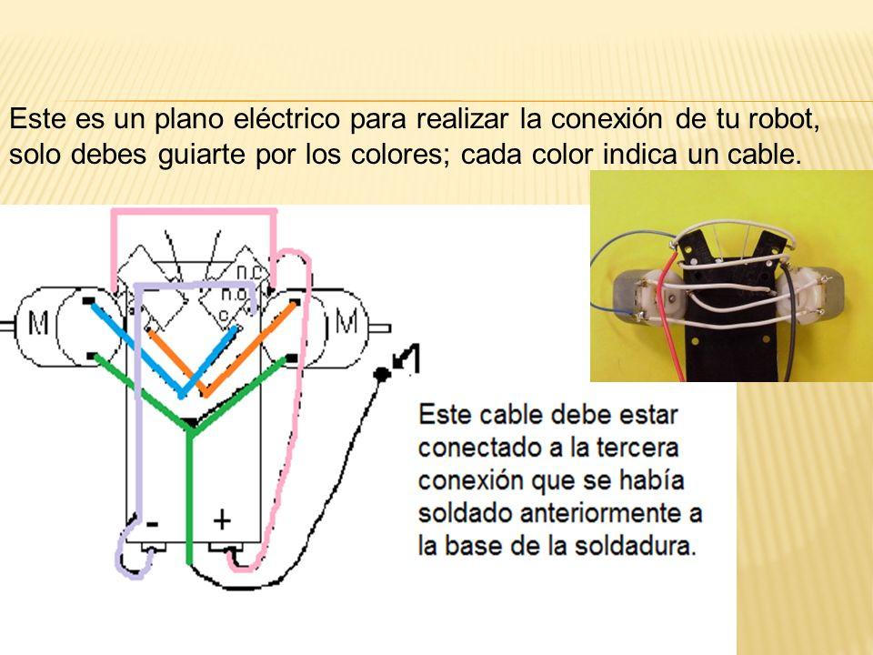 Este es un plano eléctrico para realizar la conexión de tu robot,