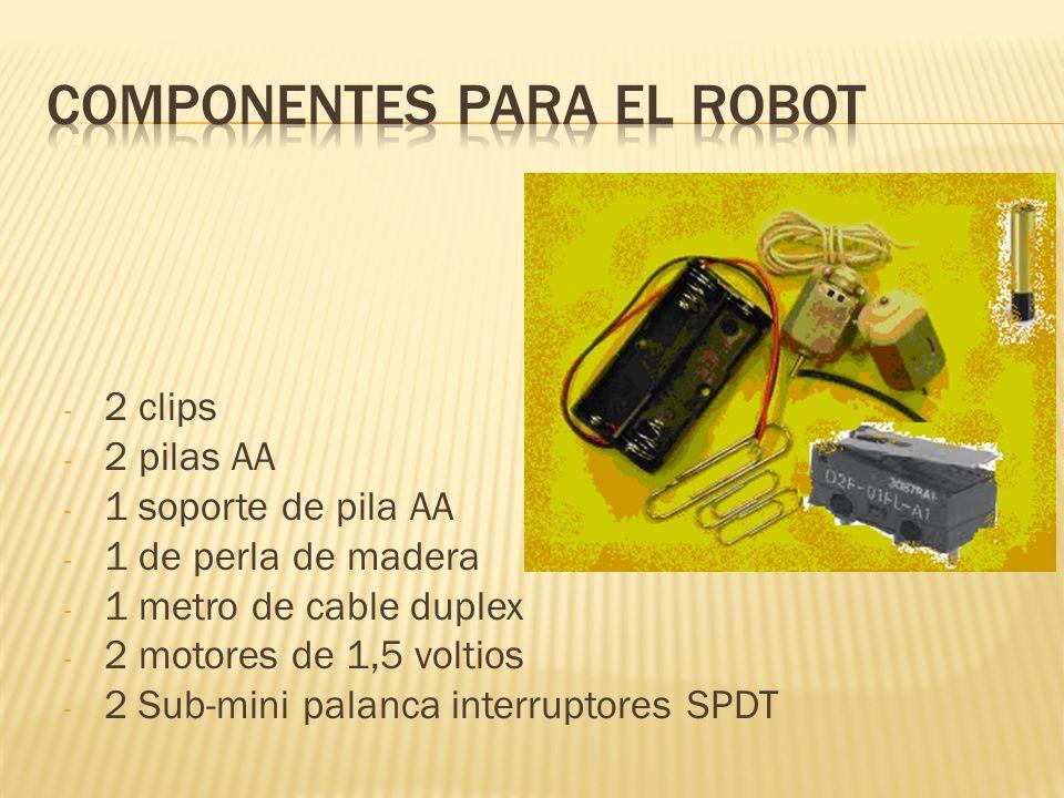 COMPONENTES PARA EL ROBOT