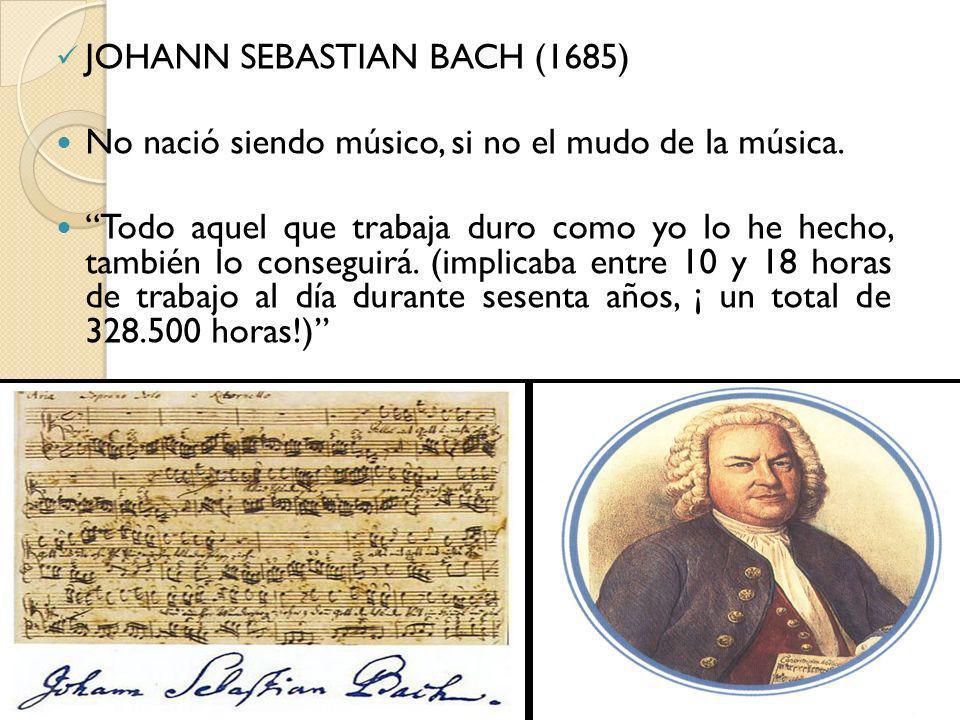 JOHANN SEBASTIAN BACH (1685)